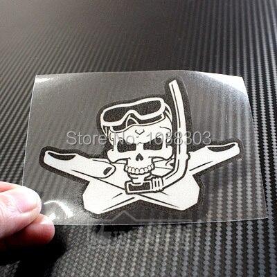 3 ukuran peralatan menyelam scuba diving skull decals stiker mobil reflektif 3 m untuk mobil seluruh tubuh jendela ekor di mobil stiker dari mobil sepeda