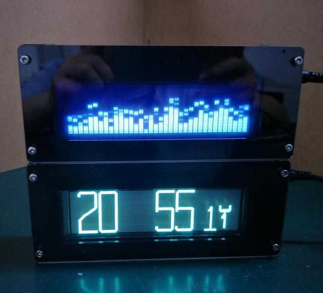 DIY cyfrowy poziomu dźwięku LED VFD25363 muzyki spektrum wyświetlacz VFD spółki FFT wyświetlacz fluorescencyjny lepsze niż LED Spectrym wyświetlacz