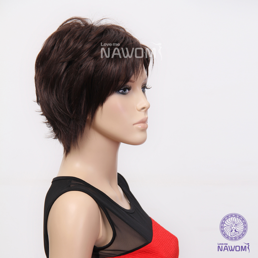 Phenomenal Aliexpress Com Buy Choppy Lovely Kanekalon Side Swept Bang Dark Short Hairstyles For Black Women Fulllsitofus