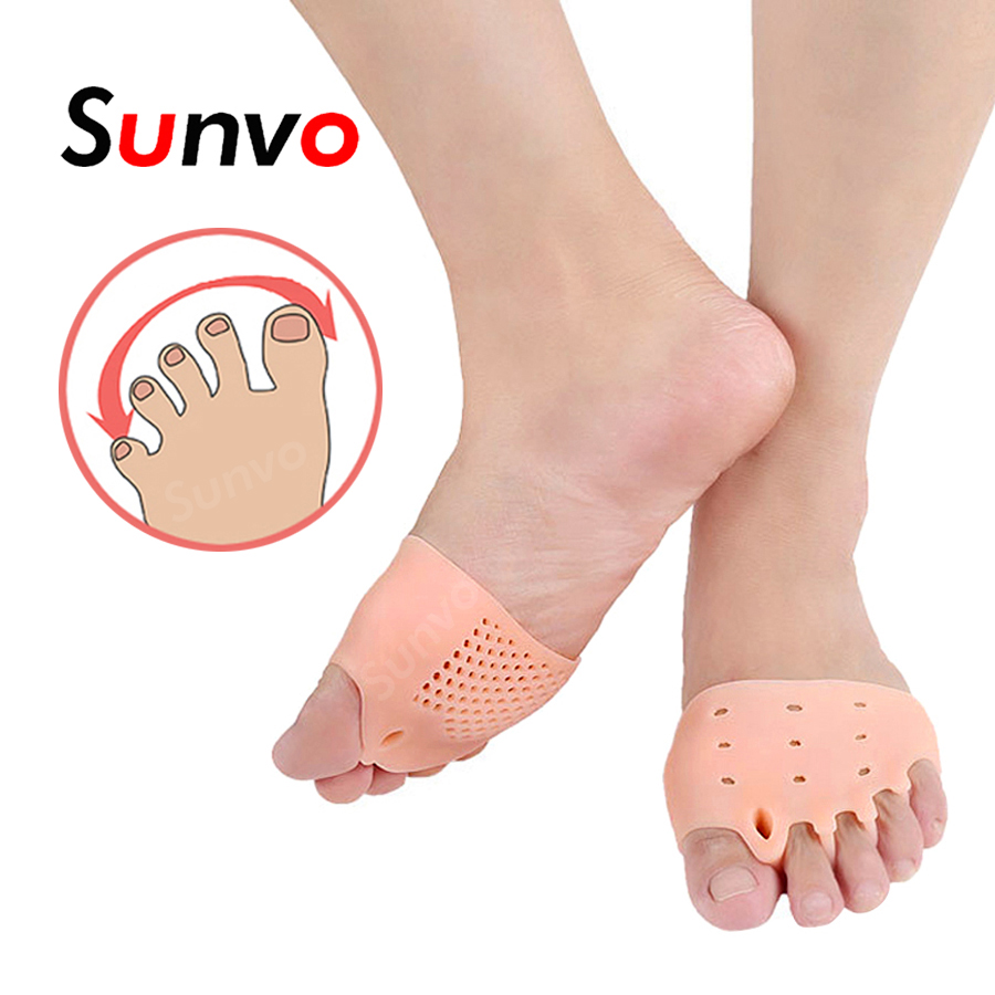 Inserts Hallux Valgus Corrector Pad Five Toes Separator Silicone Honeycomb Forefoot Pads For Big Toe Orthopedic Inserts