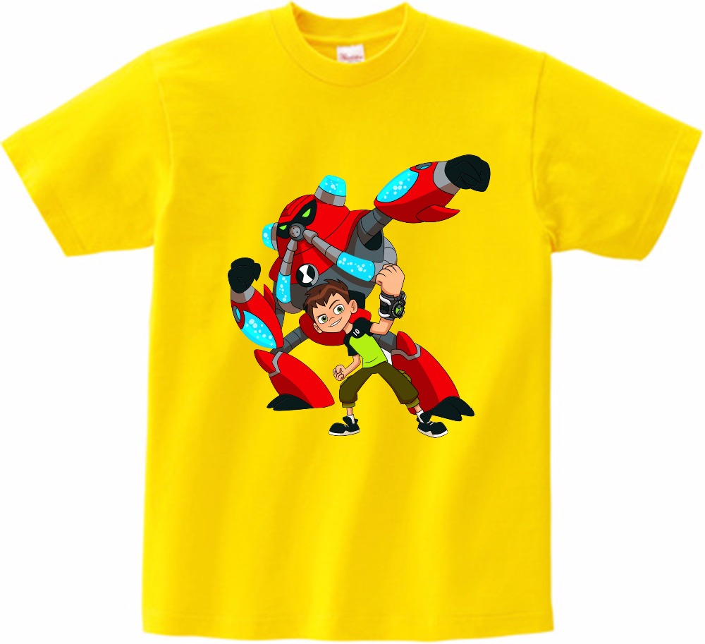 2019 Summer Tops Ben 10 Costumes Boys T Shirt Short Sleeves Boys T shirts Sportwear Outfits Cartoon Kids Short Sleeves MJ in T Shirts from Mother Kids