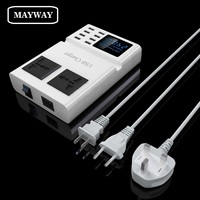 Fast Charging USB Charger Power Travel Adapter Strip Switch Display Screen With 8 USB Socket Ports