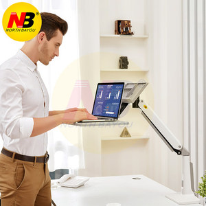 Image 5 - NB FB17 Full Motion siedzieć stojak na laptopa wsparcie składany ramię sprężyny gazowej 11 17 cal uchwyt na laptopa stojak na notebooka z podstawką na klawiaturę do montażu na