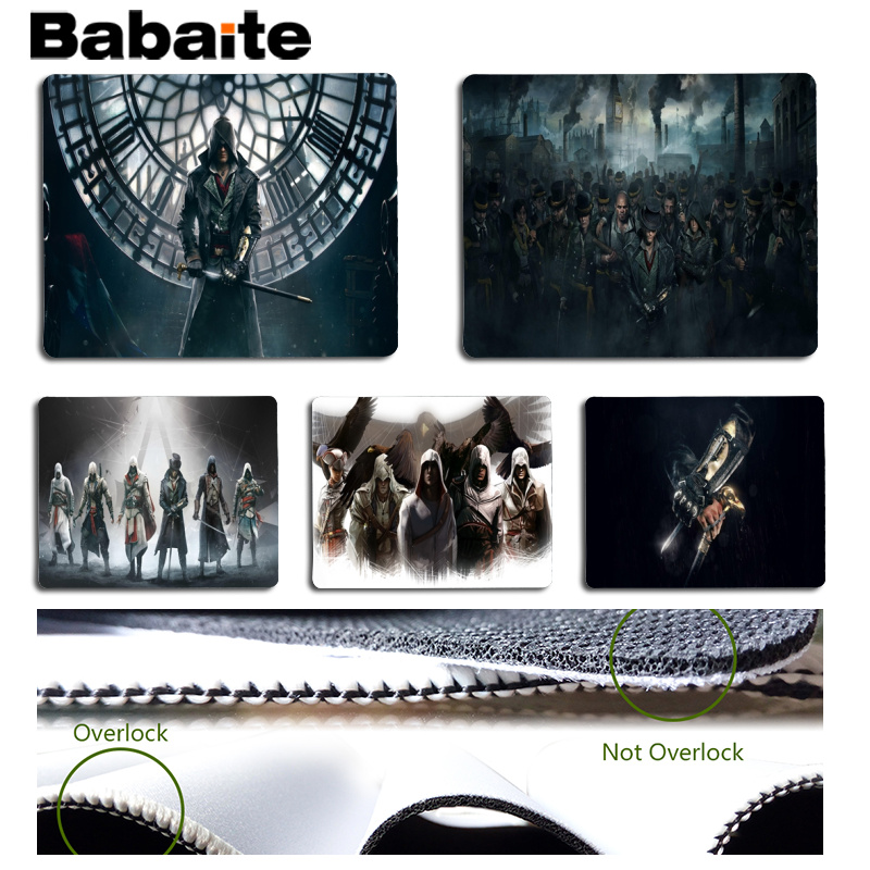 Babaite My Favorite Assassins Creed Beautiful Anime Mouse Mat Size for 18x22cm 25x29cm Rubber Mousemats