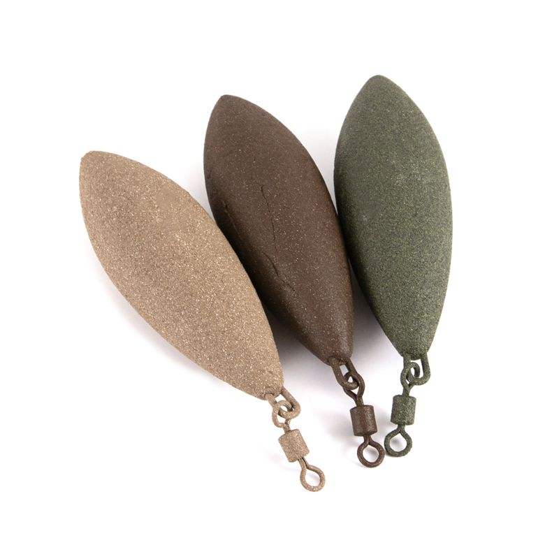 Fishing Sinker Lead Weight Oval Shape Weights Swivel Tackle Carp Leads Accessories 71g/85g/99g/127g/142g D5BA