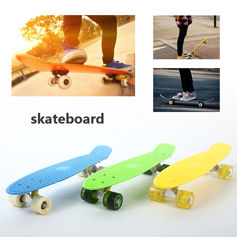 Planche à roulettes unisexe quatre roues simple culbuteur Skateboard pour adolescent Sports de plein air Longboard Scooter Skateboards Hoverboard