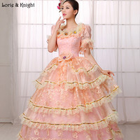 Princess Sissi & Marie Antoinette Dress Inspired Royal Ball Gowns Bridal Quinceanera Dress Prom Pageant Dress PINK
