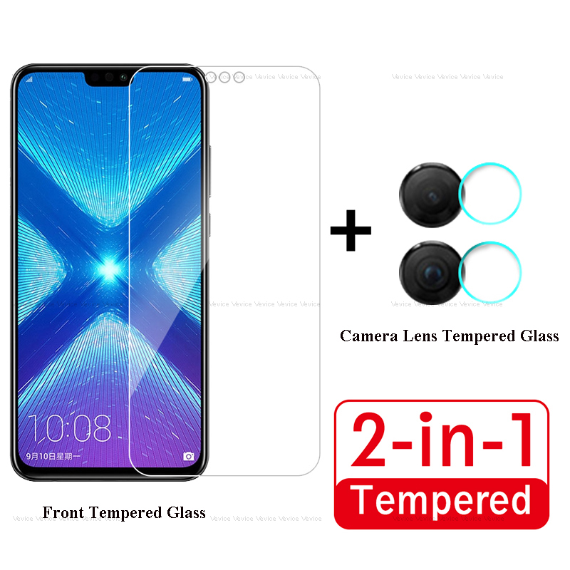 2 In 1 Shockproof Tempered Glass For Huawei Honor 8X Screen Protectors And Camera Lens Glass For Honor 8X Full Protection Film