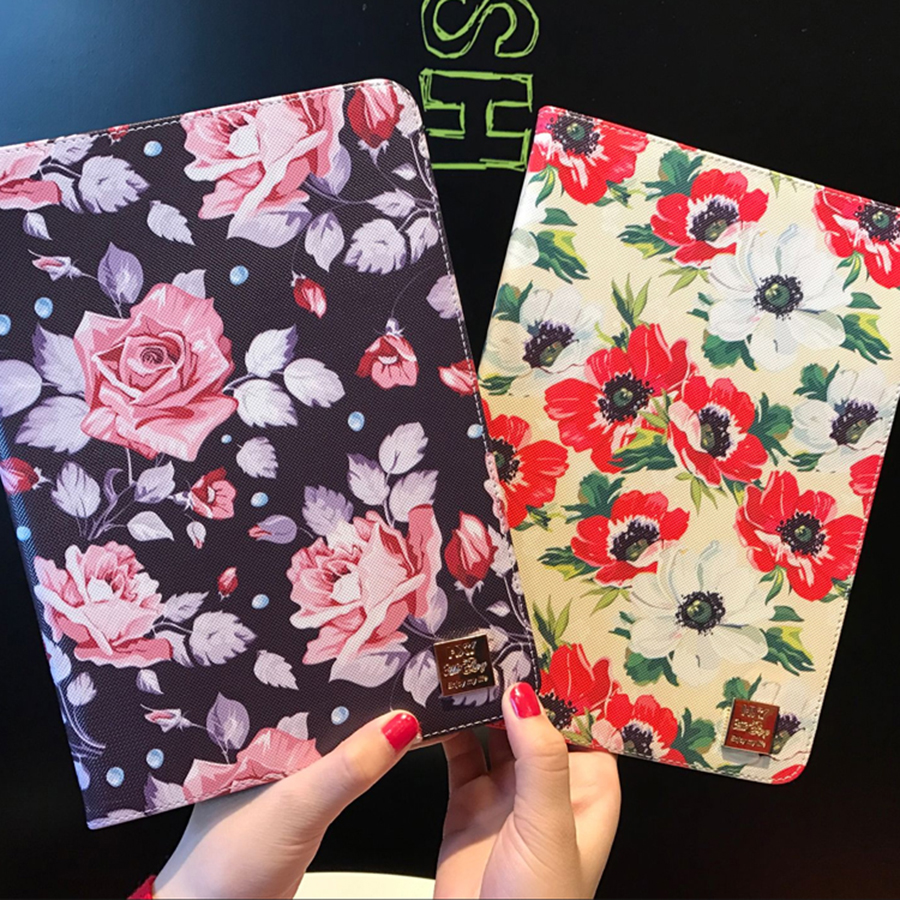 For Ipad Air 1 Case Ipad 5 Tablet Pad Screen Protective Cover Shell PU Leather With Silicone Floral 2017 Design Drop Resistance scomas tablet pc case for apple ipad 5 air 1 drop resistance cover protective with hand strap fashion pirate king stand bracket
