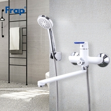 купить FRAP Bathtub Faucets modern style bath faucet mixer wall mounted cold and hot water mixer taps multi color choices handle cover дешево