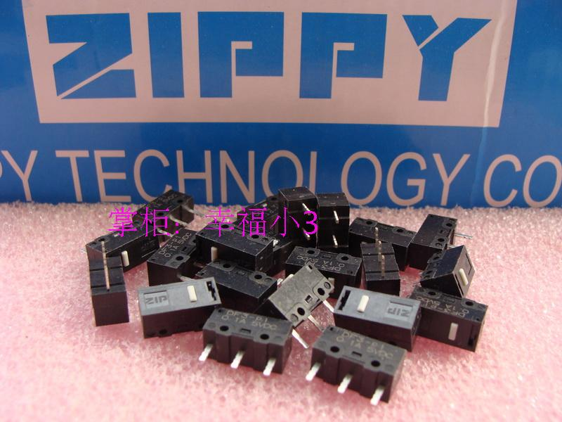 5pcs/lot 100% Original Made In Taiwan ZIPPY ZIP DF3 Mouse Micro Switch Button 20 Millions Lifetime 0.6N Soft Feel
