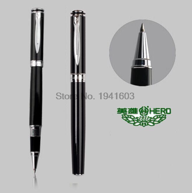 RollerBall pen black 0.5 Tip HERO 7035 office and school stationery rollerball pen 0 5 tip m