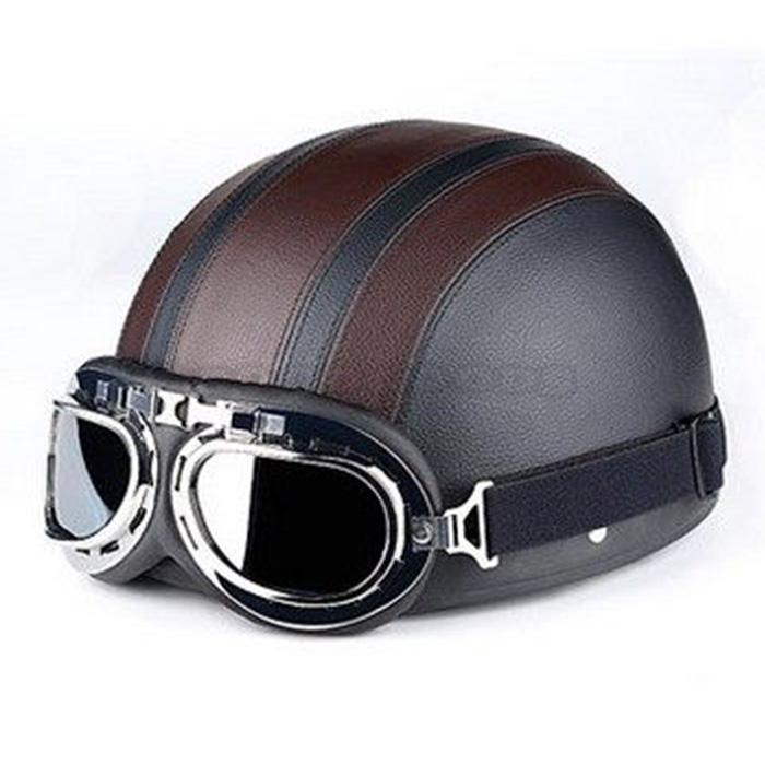 Online Shop 2017 New Pu Leather Motorcycle Helmets Bike Bicycle