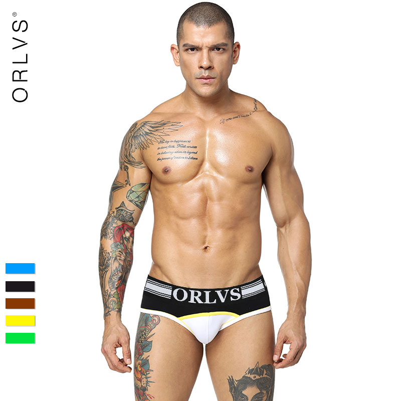 2018 ORLVS Men Underwear Briefs Cueca Male Panties Briefs Shorts Cotton &Spandex Mens Underwear Briefs Shorts Underpants OR1122
