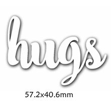 Hugs Enhlish Words Metal Cutting Dies DIY Scrapbooking Embossing Paper Cards Making Crafts Supplies New 2019 Diecut
