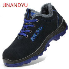 Winter Shoes Men Work Safety Shoes Steel Toe Shoes Warm Winter Ankle Snow Boots Men Puncture Proof Footwear Mens Safety Boots safety shoes men work steel toe breathable boots men s fashion casual safety shoe boots puncture proof protective footwear