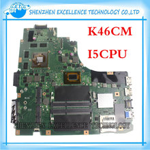 for ASUS K46CM K46CA REV 2.0 Laptop motherboard i5 3317U Processor K46CM GT 635M with 2GB RAM mainboard fully tested