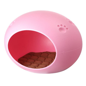 Egg Shape Pet Bedroom Cabin Can Be Fixed Cage Plastic Guinea Pigs House Hamster Bedroom Cat Dog Puppy Head Bedroom