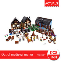 Lepin 16011 1601Pcs Movie Series Out Of Medieval Manor Model Building Blocks Set Bricks Toys For
