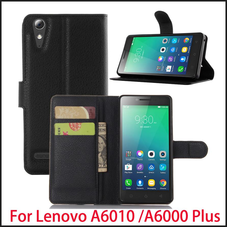 Wholesale 10pcs For Lenovo A6000 Plus /A6010 Case Luxury Flip Leather Stand Case For Lenovo A6000 Plus /A6010 Book Style Case