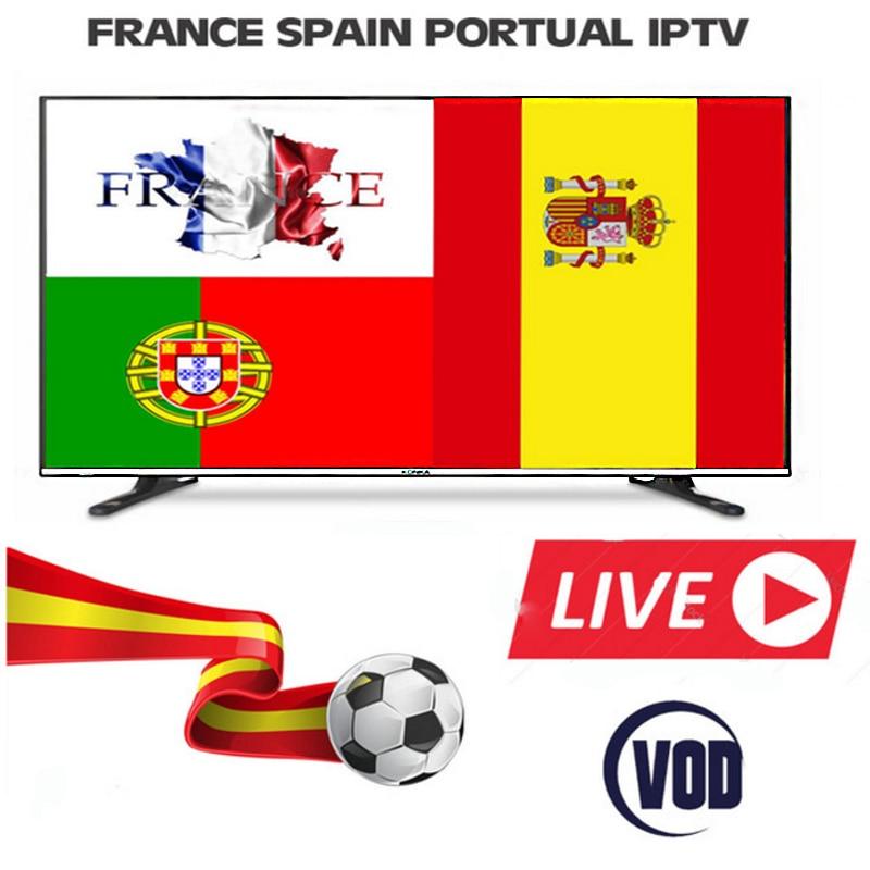 1 jahr Frankreich Französisch Spanien Portugal IPTV Abonnement Brasilien Schweden Albanien Konto Für Iphone M3U Smart Tv Enigma2 Mag
