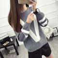 Autumn winter loose sweater women Korean version bottoming letter pullovers female pull femme blouse