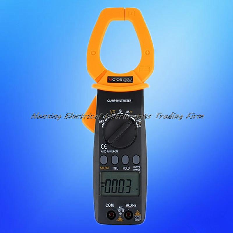 VC6056A+ Clamp Meter Multimeter AC DC Current Voltage Resistance Tester 1000A 55mm Jaw digital clamp meter multimeter dc ac voltage current resistance diode continuity tester 33mm jaw opening