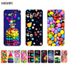 for Samsung Galaxy A7 2015 TPU Phone Case for A3 A5 A8 2015 Shell Transparent for A300 A500 A700 A800 Cover Rainbow Candy