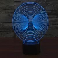 Amazing Magical Optical Illusion 3D LED Night Light Trumpet USB Table Light Novelty Lighting Lamp Atmosphere