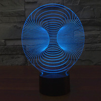 Amazing Magical Optical Illusion 3D LED Night Light Trumpet USB Table Light Novelty Lighting Lamp Atmosphere