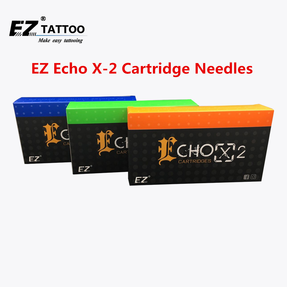 100 PCS Assorted New Needle EZ ECHO X-2 Cartridges Tattoo Needles Kits for Rotary Tattoo Machine Tattoo Supply 100 pieces assorted ez cartridge tattoo needles liners shaders with 2 aluminum tubes and 2 needle bars