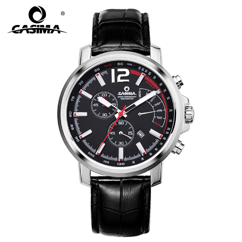 CASIMA Fashion Casual Chrohograph Calendar Waterproof Stainless Steel Leather Watch band Mens Sports Watches 8305CASIMA Fashion Casual Chrohograph Calendar Waterproof Stainless Steel Leather Watch band Mens Sports Watches 8305