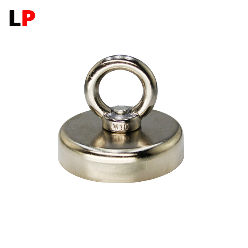 1pcs Mounting Magnet Dia 75mm Magnetic Pots with Ring Lifting Magnet Strong Neodymium Permanent salvage magnet Free shipping ce certified 100kg permanent magnetic lifter steel plate hoist lifting crane free shipping