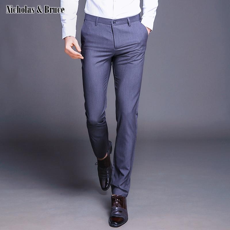 N&B Mens Dress Pants 2019 Ankle-Length Trousers Male Classic Black Suit Pants Formal Business Office Slim Fit Pants Men SR44