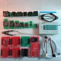 XGECU 100 Genuine TL866II PLUS Programmer ICSP FLASH EEPROM MCU NAND 22 Adapters IC Test Clip