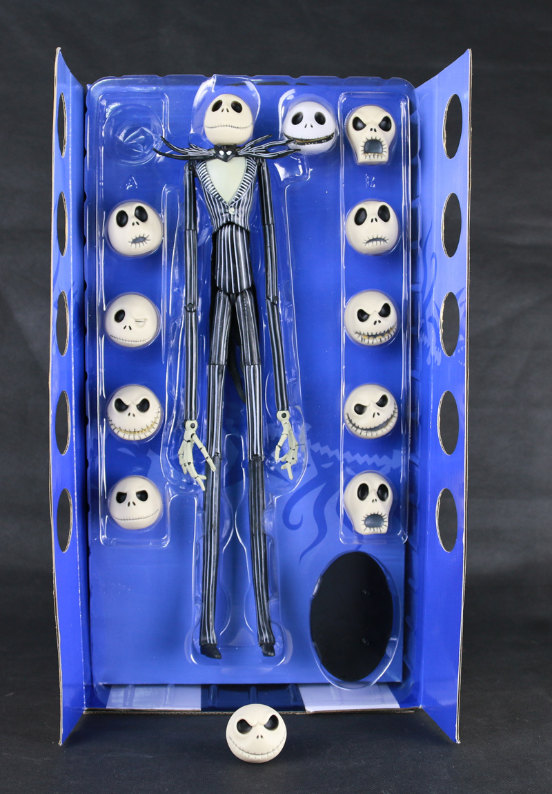 ФОТО NECA 12 Face Jack Skellington Animation The Nightmare Before Christmas Henry Selick Tim Burton Movie 14