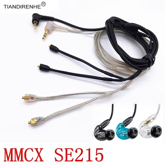 Shure SE215 SE315 SE425 SE535 SE846 용 기존 MMCX 케이블 금도금 이어폰 헤드셋 헤드폰 교체 케이블 와이어 라인