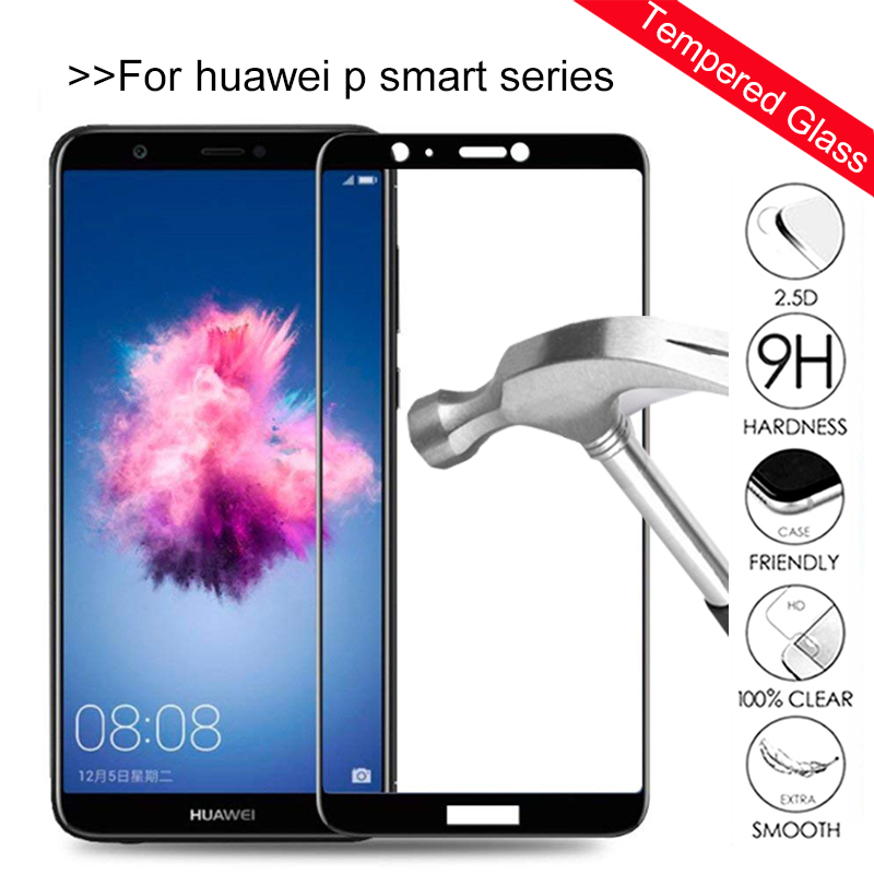 3D Full Cover Tempered Glass For Huawei P Smart FIG-LX1 Protective Glass On P Smart 2019 Psmart Plus 5.65 6.3'' Inch Safety Film