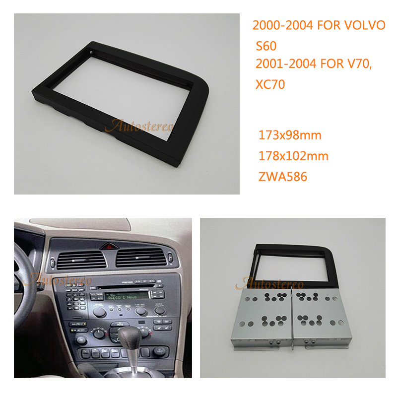 Car DVD Fitting Kit installation Car audio Radio fascia frame audio for VOLVO S80 1999-2005 ZWA11-586 yiyelang yh 128 1200w car amplifier audio installation wires cables kit red blue