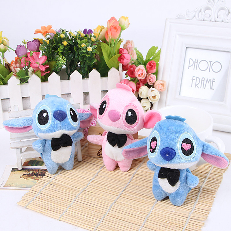 2pcs 10cm Kawaii Stitch Soft Stuffed Plush Toys Cartoon Stitch Action Figure Toys Collectible Model Toy Children Birthday Gift