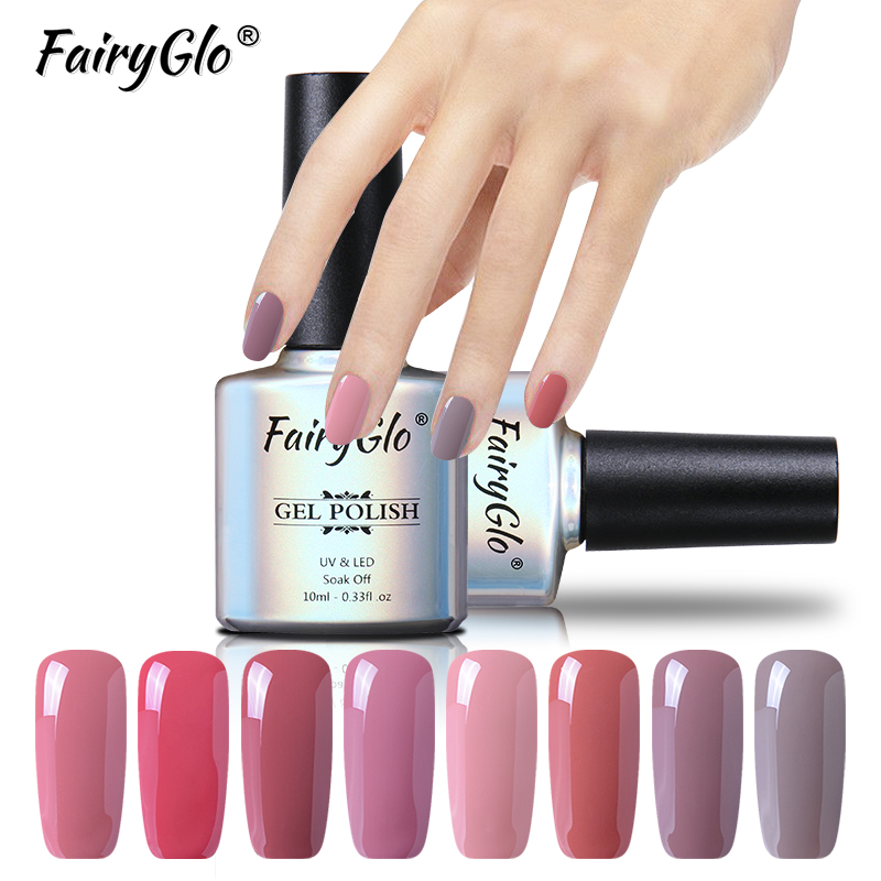 FairyGlo 10ML Nude Color Nail Polish Top Base Primer Varnishes Stamping Paint Nail Polish Gellak Soak Off Hybrid Lucky Lacquer