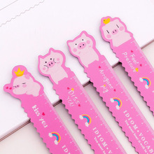 Cute Unicorn Soft Ruler 15cm Bendable With Magnetic Bookmark Ruler Student Measurement Stationery School Supplies Drawing Ruler cute cartoon rabbit carrot wooden bookmark book page with tassel student stationery exquisite gift