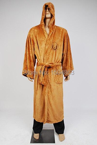 Hvězda Jedi Knight Robe Deluxe Bath Robe Darh Vader Cosplay kostým Hnědé šaty na šaty Šaty na spaní Pyžamo