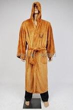 Star Wars Jedi Knight Robe Deluxe Bademantel Cosplay Kostüm Braun Robe Kostenloser Versand