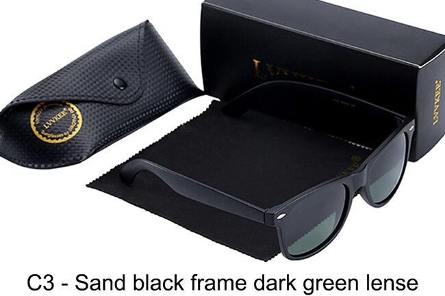 C3-Sand black frame dark green lense