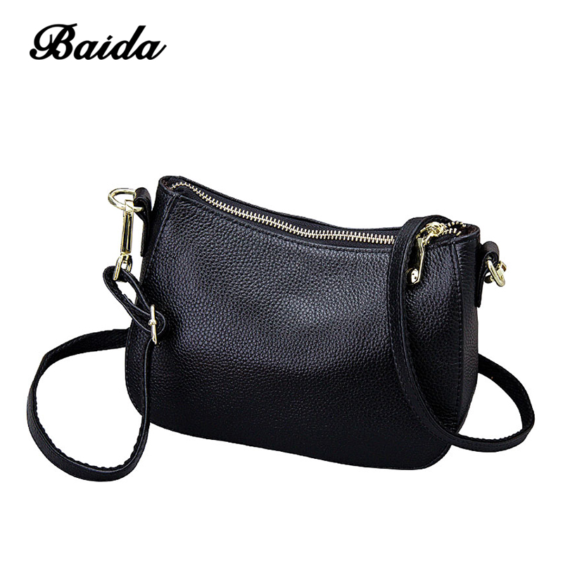 Genuine Leather Women's Messenger Bag High Quality Cow Leather Small Crossbody Shell Girls Bag Women Fashion Shoulder Bag suds brand genuine leather 2018 fashion women small shoulder bag high quality cow leather women messenger bag crossbody flap bag