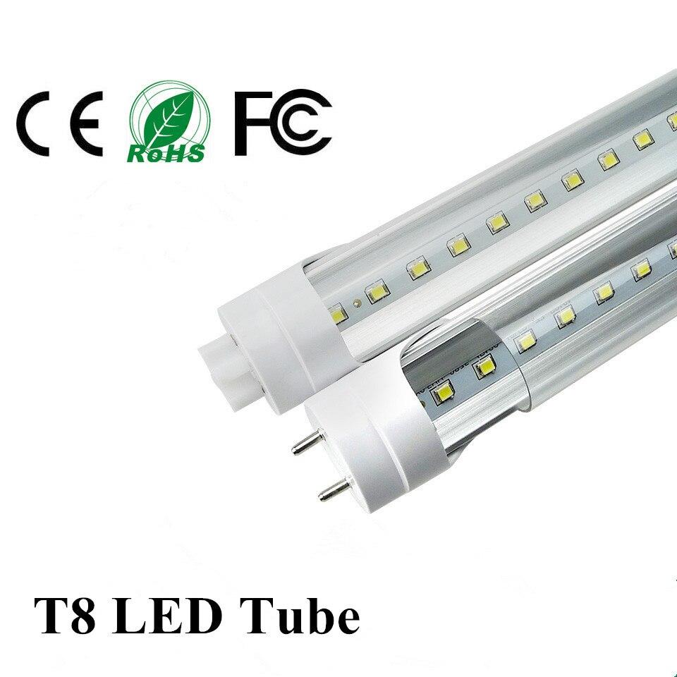 Free Shipping T8 1.2m 1200mm LED Tube Light G13 4ft Flourescent Tubes Bulbs Super Bright 20W SMD2835 Indoor Lighting Tubes Lamp