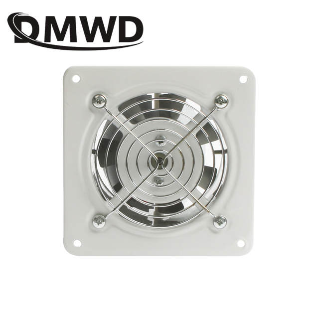 US $7 18 10% OFF|DMWD 4 inch Kitchen Exhaust Fan Bathroom Wall Window  Toilet Duct Booster Fans ventilation Blower 4