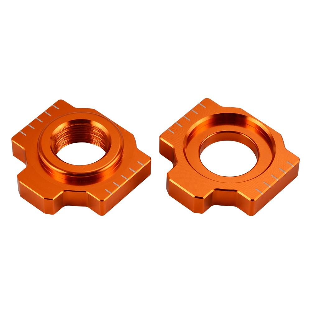 Chain Adjuster Axle Blocks For KTM 1050 1090 1190 950 990 1290 Super Adventure R S T RC8 RC8R SMR SMT Supermoto Super Duke