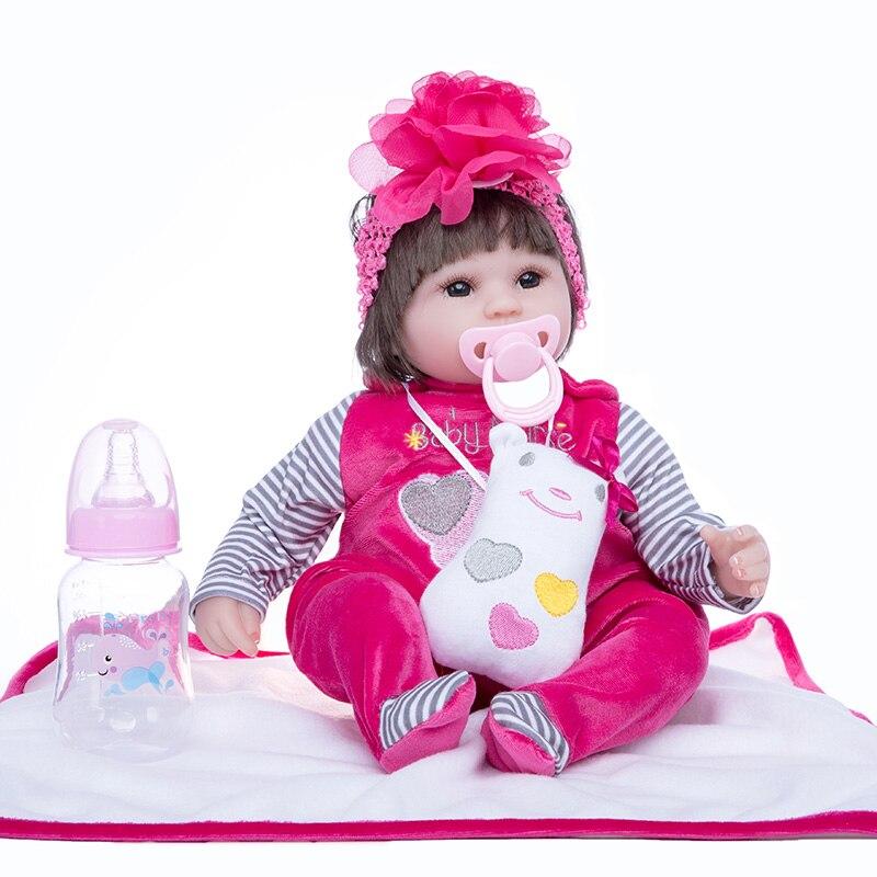 Принцесса Анна 18in прекрасная кукла reborn Младенцы силиконовые reborn baby куклы реалистичные игрушки подарок на день рождения